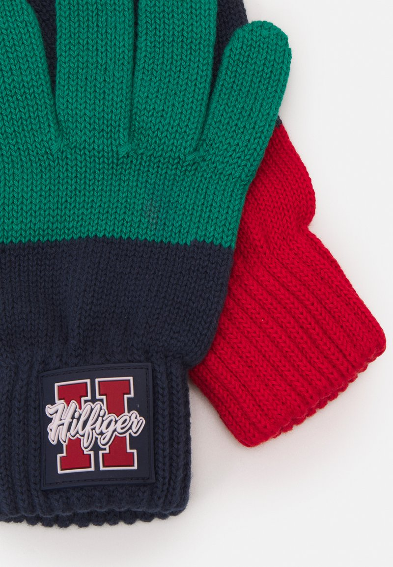 Tommy Hilfiger - BOYS SEASONAL GLOVES - Gloves - blue