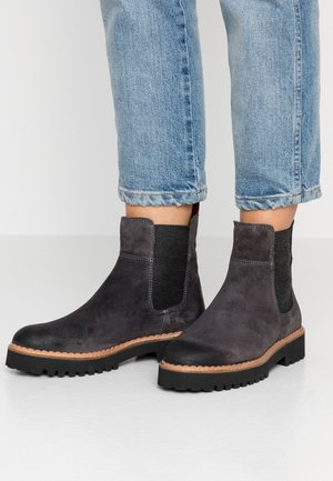 Platform ankle boots - grey