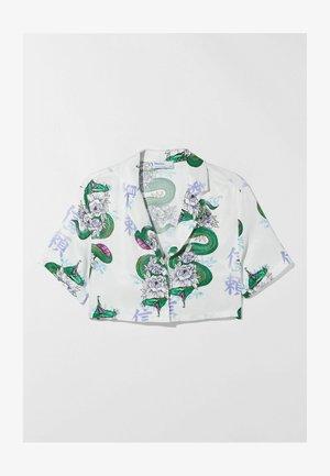 MIT DRACHENPRINT - Button-down blouse - white