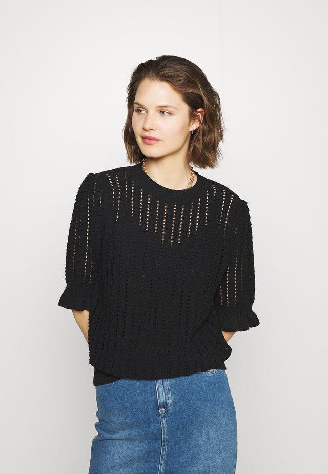JUMPER VENNA - T-shirt z nadrukiem - black