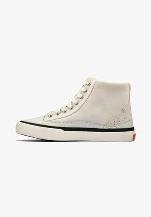 Zapatillas altas - white canvas