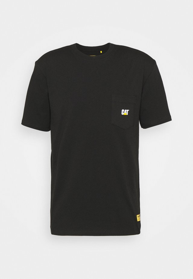POCKET TEE - T-shirt con stampa - black