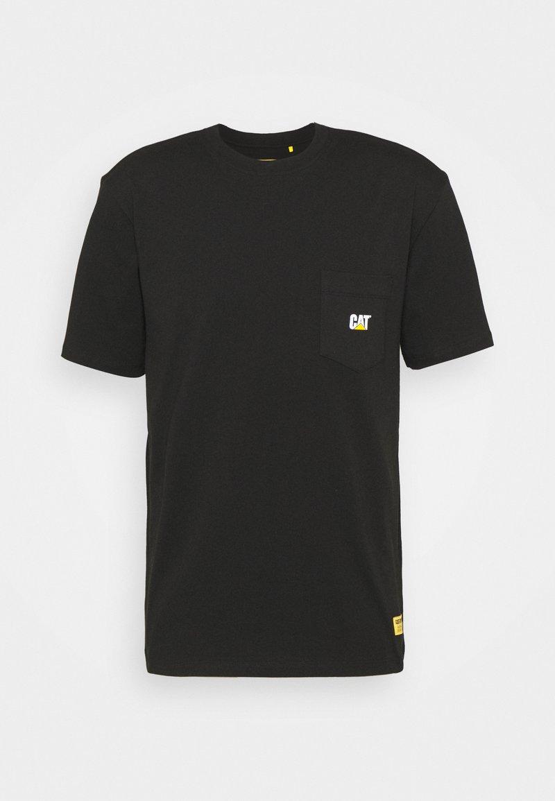 Caterpillar - POCKET TEE - T-shirt med print - black