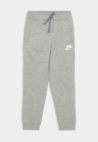 Nike Sportswear - JOGGER UNISEX - Trainingsbroek - dark grey heather/white - 0