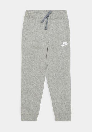 JOGGER UNISEX - Spodnie treningowe - dark grey heather/white