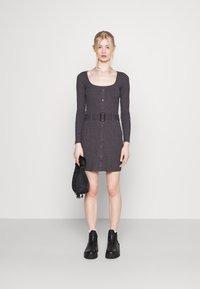 Even&Odd - Jumper dress - mottled dark grey - 1