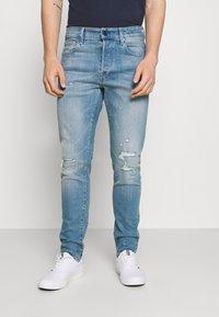 G-Star - 3301 SLIM - Slim fit jeans - azure stretch denim - 0
