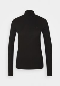 Tommy Hilfiger - SKINNY ROLL - Long sleeved top - black - 0