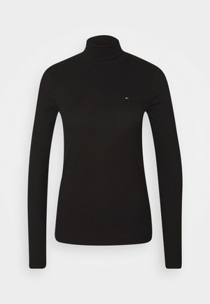 SKINNY ROLL - Long sleeved top - black