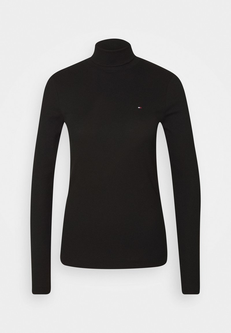 Tommy Hilfiger - SKINNY ROLL - Long sleeved top - black