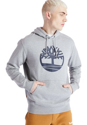 CORE TREE LOGO - Bluza z kapturem - medium grey heather-dark sapphire