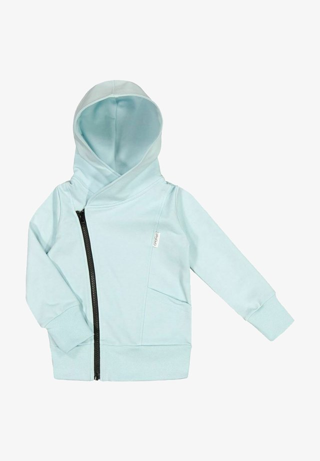 Zip-up sweatshirt - baby blue/black