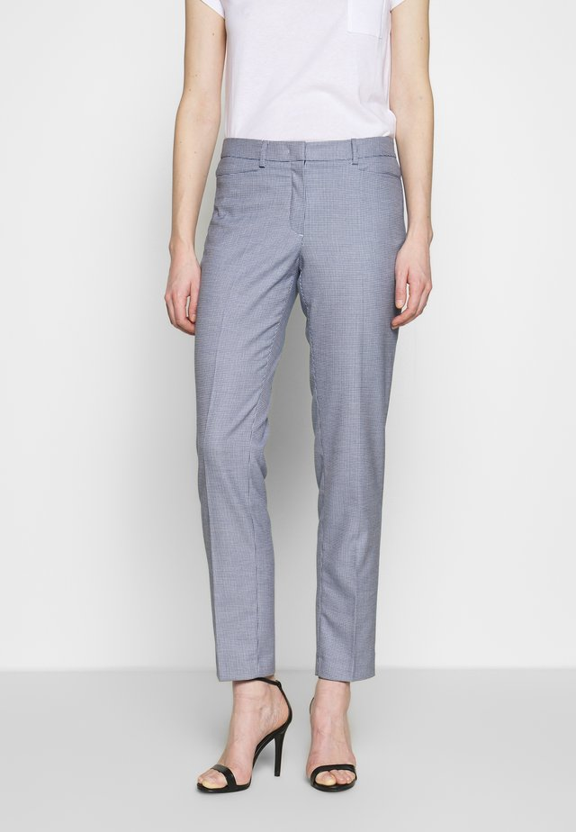 TROUSER - Pantalon classique - marine multicolor