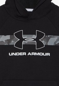 Under Armour - RIVAL HOODY - Hoodie - black /white - 3