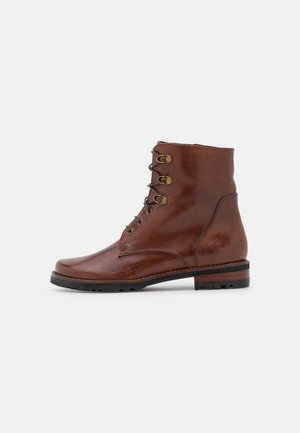 TIFANNY - Lace-up ankle boots - ginger gianduia