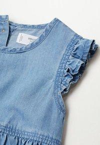 Mango - Denim dress - bleu clair - 3