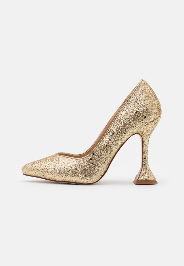MONICA - Escarpins à talons hauts - gold glitter