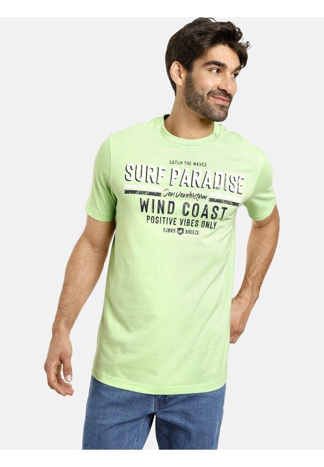 2 PACK - T-shirt print - blau grün