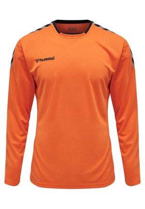 HMLAUTHENTIC - Bluzka z długim rękawem - tangerine