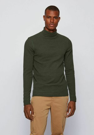 Long sleeved top - open green