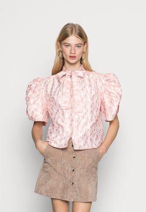 MALLOW JACQUARD BOW BLOUSE - Blouse - pink