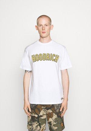 DRIP - Print T-shirt - white/yellow