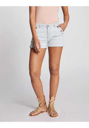 Denim shorts - bleached denim