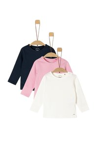 s.Oliver - 3ER-PACK - Long sleeved top - navy/pink/cream - 2