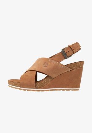 CAPRI SUNSET X-BAND - Wedge sandals - rust