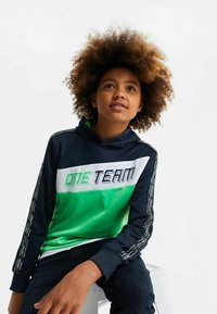 WE Fashion - MET COLOURBLOCK - Hoodie - bright green - 1