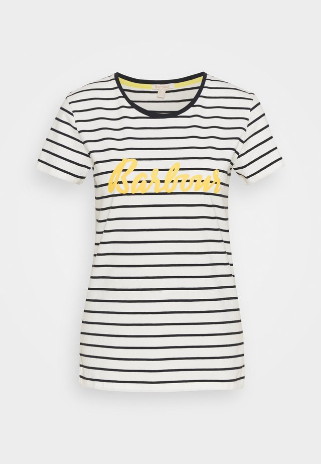 BARBOUR KEILDER TEE - T-shirt print - cloud/navy