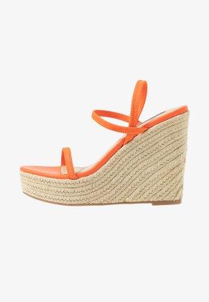 SKYLIGHT - Sandály na vysokém podpatku - orange