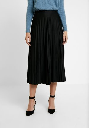 PLEATED MIDAXI - Maxi skirt - black