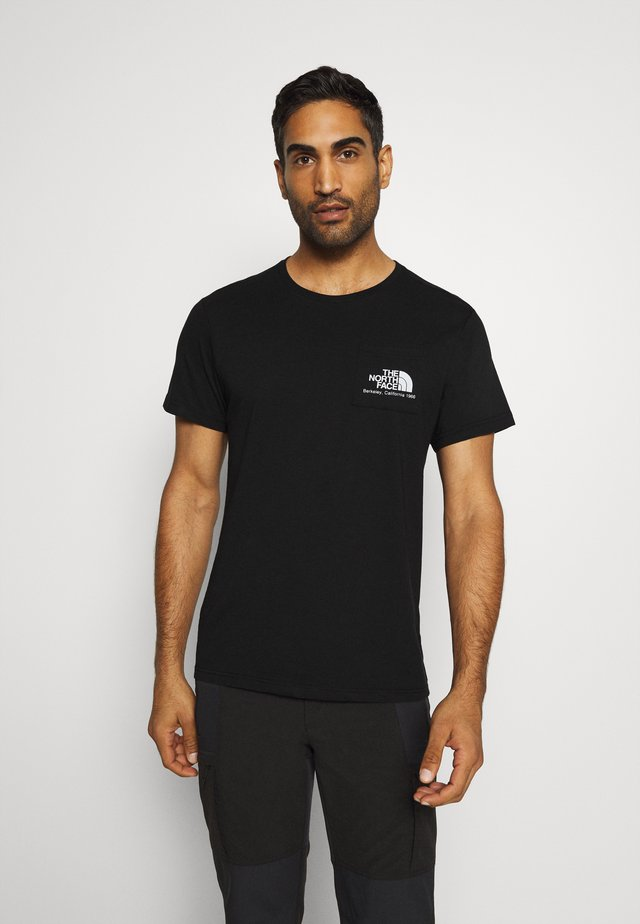 BERKELEY CALIFORNIA POCKET TEE - Triko s potiskem - black