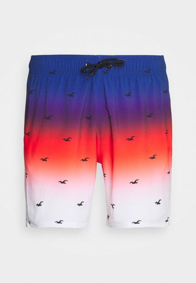 OMBRE ICON GUARD - Shorts da mare - red/white/blue