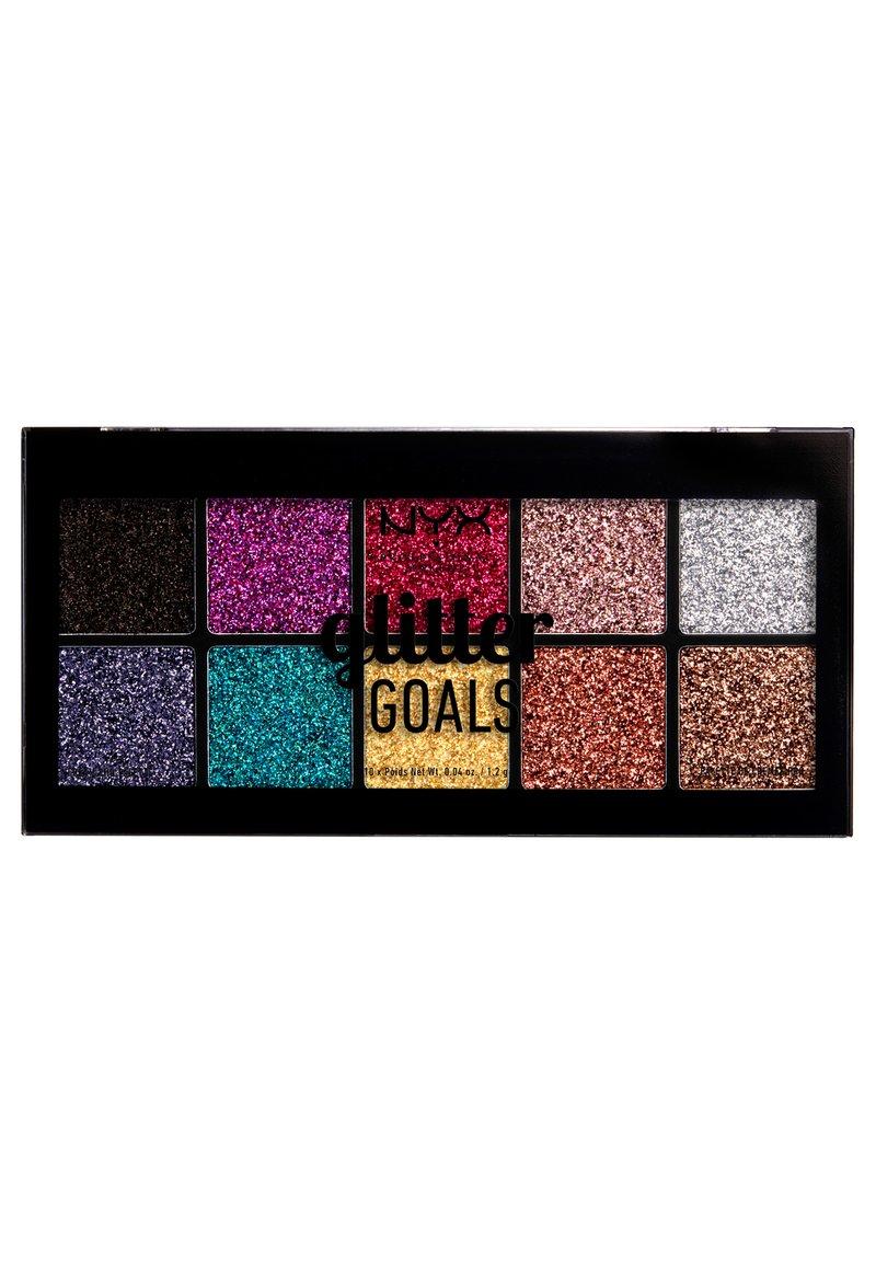 Nyx Professional Makeup - GLITTER GOALS CREAM PRO PALETTE - Paleta cieni - -