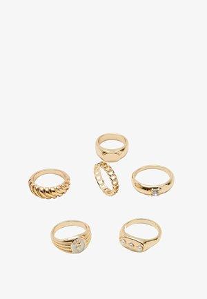 6ER-SET  - Ring - yellow
