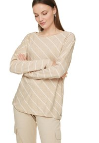 comma casual identity - Long sleeved top - light sand stripes - 0