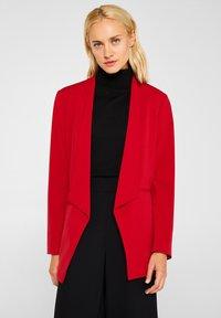 Esprit Collection - MIT NEUEM SMOKING - Blazer - dark red - 0