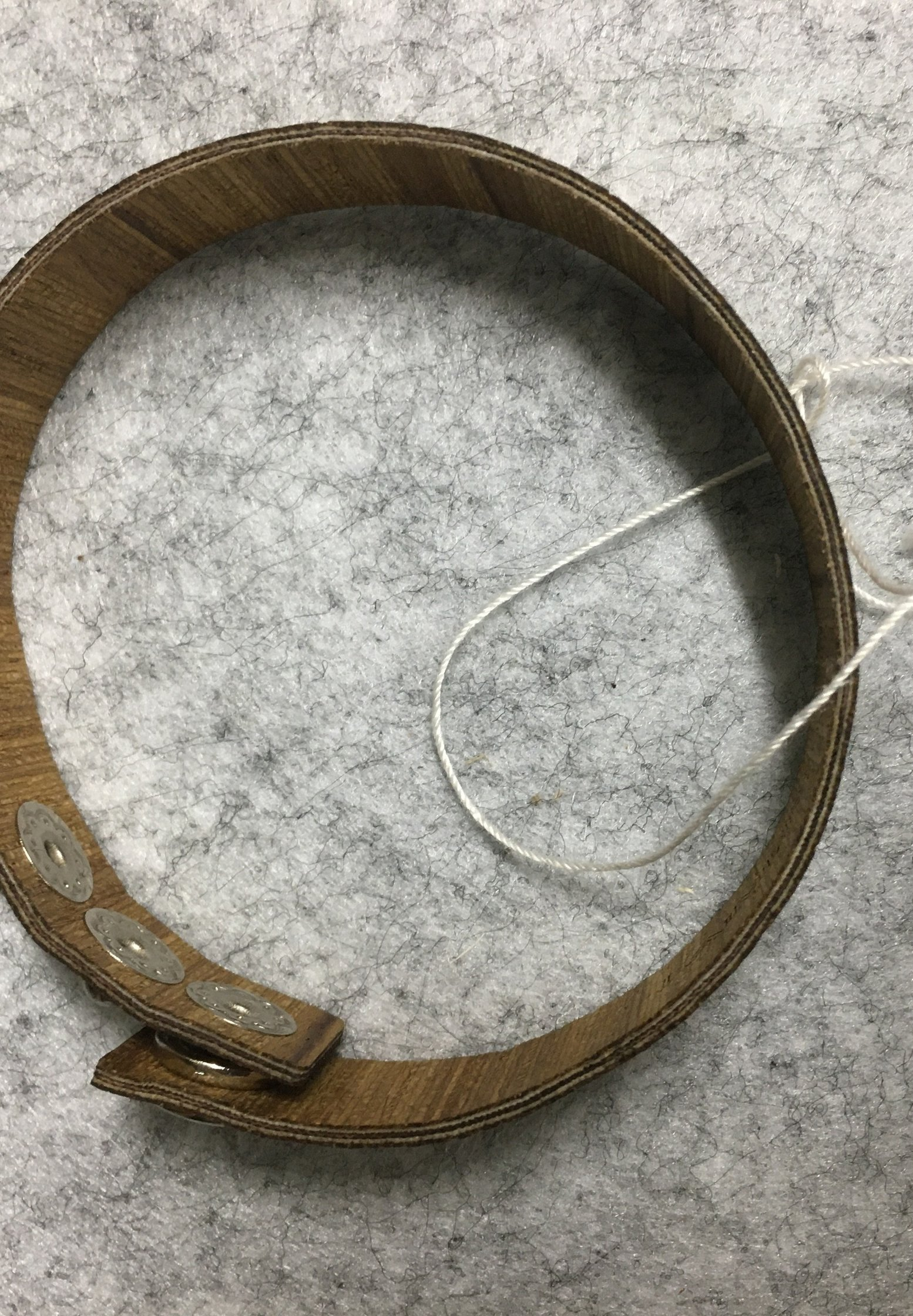 Homme LAIMER WICKEL-ARMBAND AUS ZEBRANOHOLZ - S1114 - Bracelet