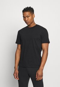 Jack & Jones PREMIUM - JPRBLAPEACH TEE CREW NECK - Basic T-shirt - black - 0