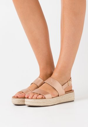 CUTE FLATFORM - Espadrilky - rose gold