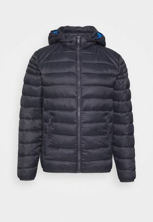 MAN JACKET ZIP HOOD - Kurtka zimowa - antracite