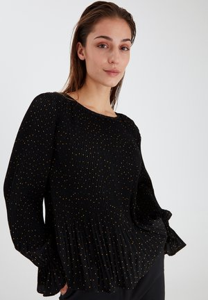 Blouse - black with dot