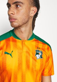 Puma - ELFENBEINKÜSTE FIF HOME SHIRT REPLICA - National team wear - flame orange/pepper green - 5