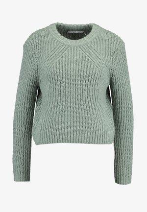 ONLFIONA - Pullover - balsam green/white melange