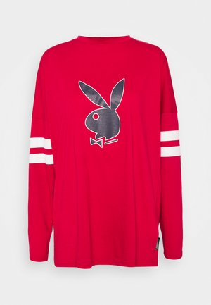 PLAYBOY VARSITY BUNNY - Long sleeved top - red