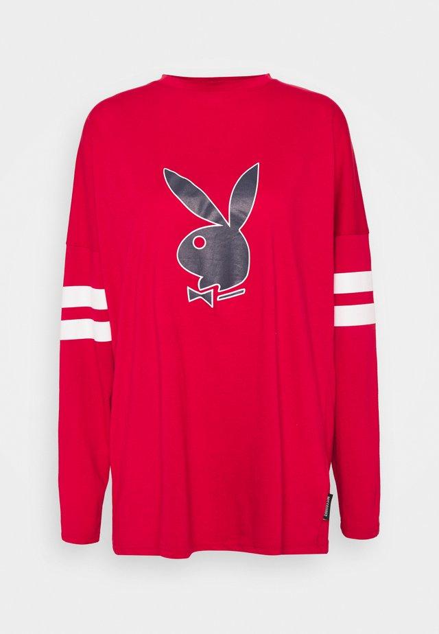 PLAYBOY VARSITY BUNNY - Long sleeved top - red