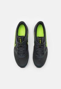 Nike Performance - DOWNSHIFTER 11 UNISEX - Neutral running shoes - dark smoke grey/volt/black/white - 3