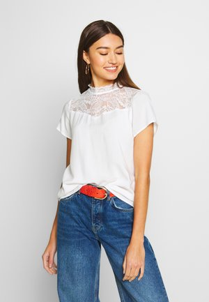 ONLFIRST LIFE - Blusa - cloud dancer